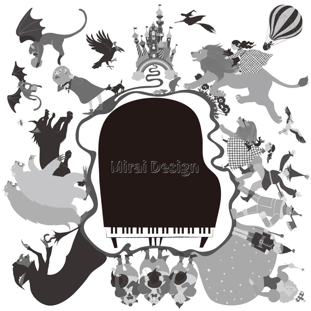 ピアノ教室 発表会プログラム オズの魔法使いイラスト