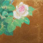 薔薇の日本画。