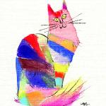 猫のイラスト。麹町コレクション。