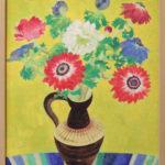 花の日本画。展示会出品予定。