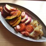 木の葉皿にロースト野菜。