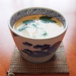 浜野マユミさんの蕎麦猪口で茶碗蒸し。