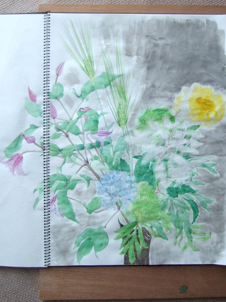 初夏の花スケッチ