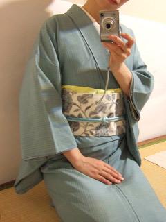 米沢紬に生紬帯