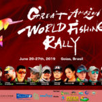GREAT AMAZON WORLD FISHING RALLY イルカロゴ。