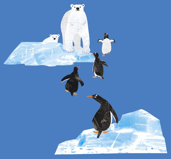 動物 イラスト 南極