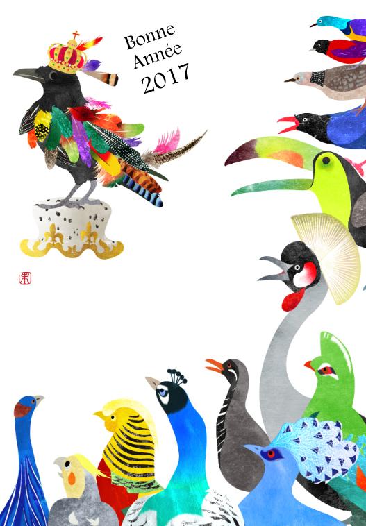 鳥の王様選び カラスのイラスト