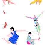 ダンスのスケッチ&イラストはがき。