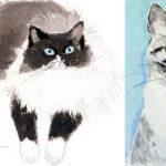 明日22日から猫の絵展。