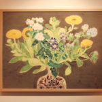 出品中の日本画。