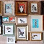 草堂さんで猫の絵展始まりました。