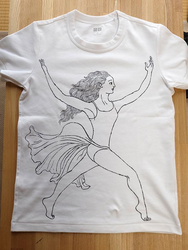 ダンサー イラストTシャツ