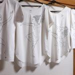 バレエイラストTシャツ。踊ル人
