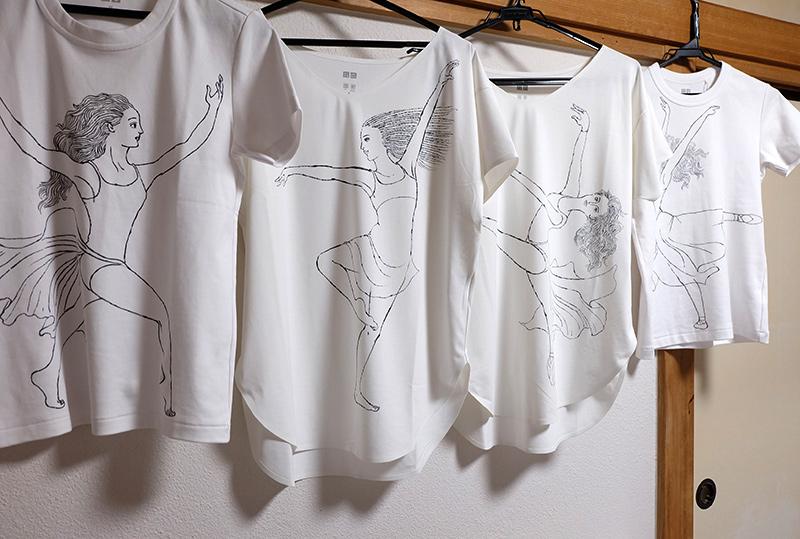 バレエ イラストTシャツ