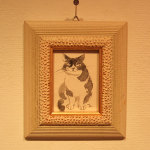 墨の絵。ミニ額作品。銀座煉瓦画廊ArtでCharity展。