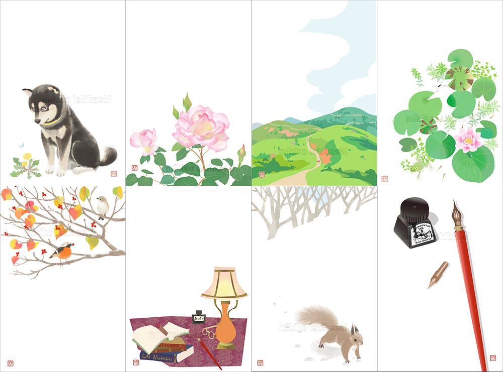 四季の絵はがきセット